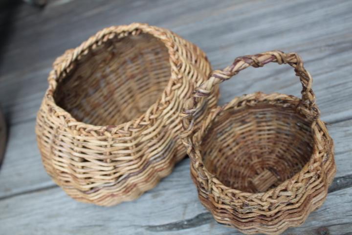 【山蔓 花籠 2個】編み 花器 花入 古民具 古道具_画像7