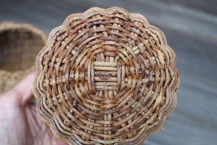 【山蔓 花籠 2個】編み 花器 花入 古民具 古道具_画像6