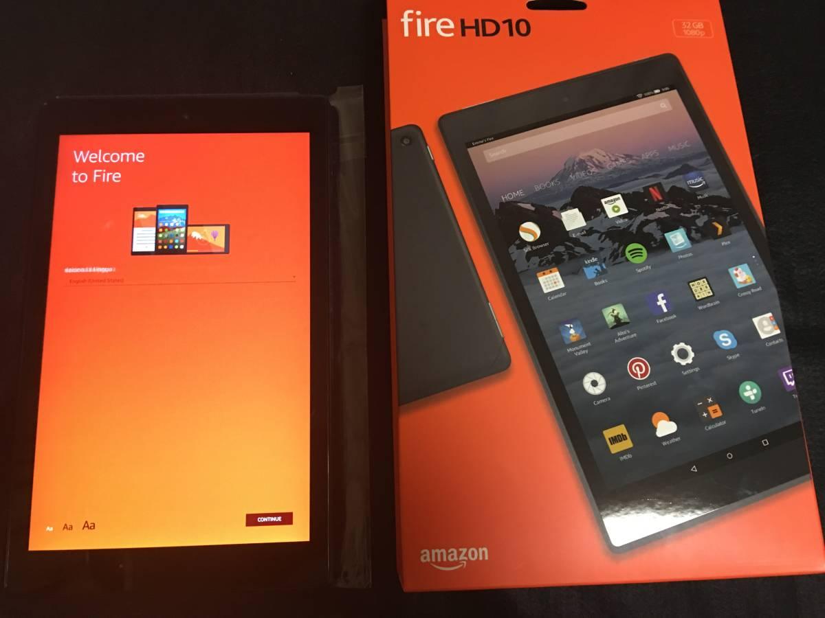 美品 Amazon Fire HD 10 (第7世代) 32 GB 10インチHDディスプレイ 2018年6月購入
