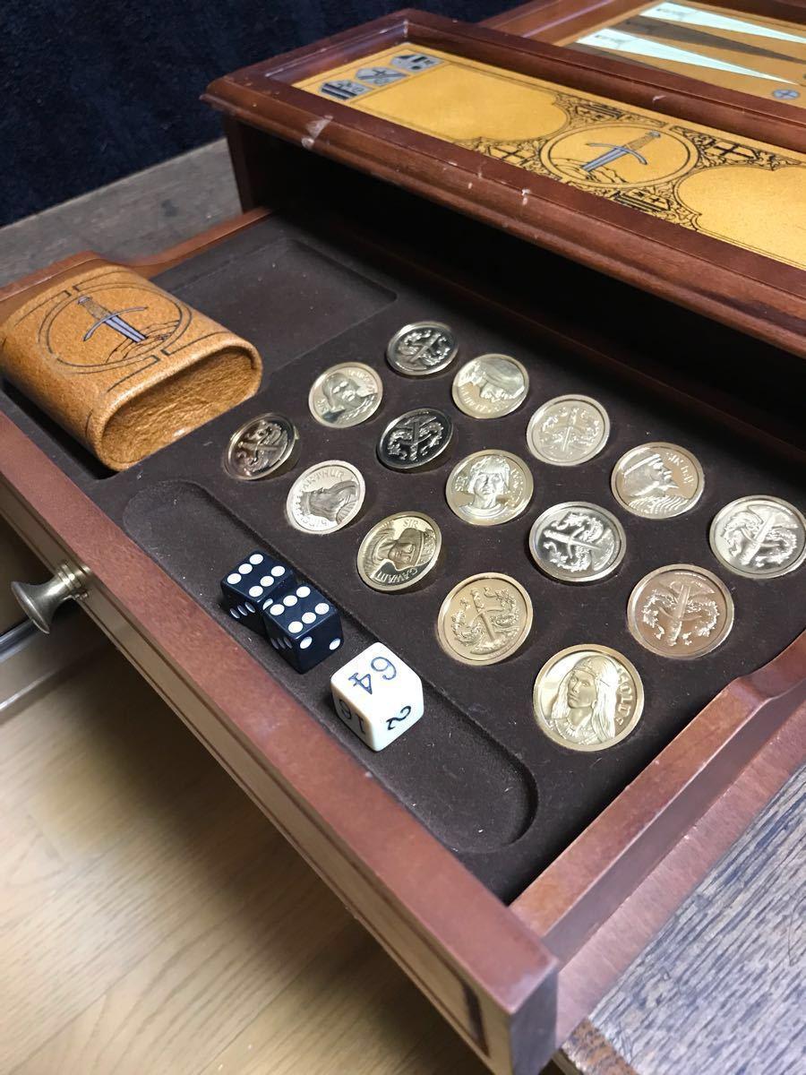 希少!フランクリン・ミント 「エクスキャリバーのバックギャモンセット」中古品 世界最古のボードゲーム_画像8