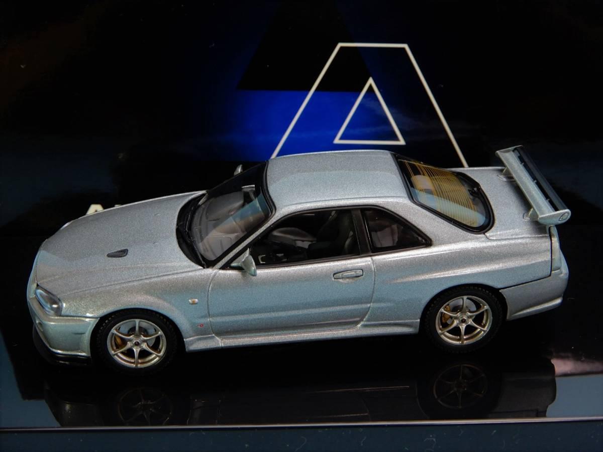 【Aa】 ニッサン スカイライン GTR V Spec Ⅱ 2000 R34 ★57332★スパークリングシルバー★1/43★_画像2