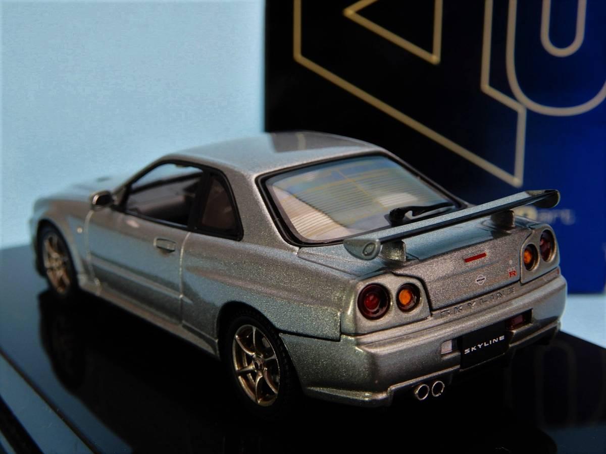 【Aa】 ニッサン スカイライン GTR V Spec Ⅱ 2000 R34 ★57332★スパークリングシルバー★1/43★_画像3