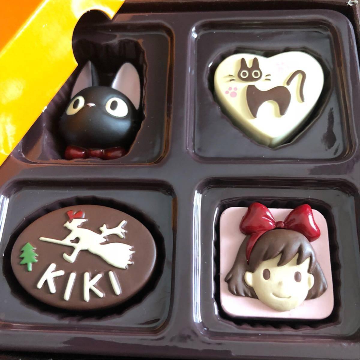 ☆魔女の宅急便☆チョコマグネット 4個入り セット ジジ キキ 看板 スタジオジブリ_画像2