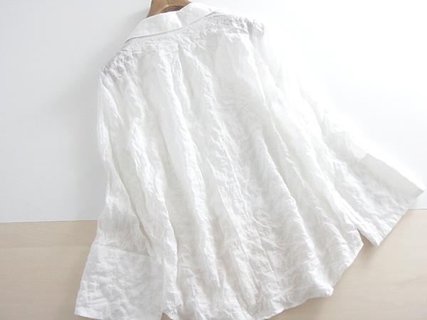 春夏 送料無料 *le.coeur blanc* ルクールブラン スキッパーブラウス 38 ♪_画像2