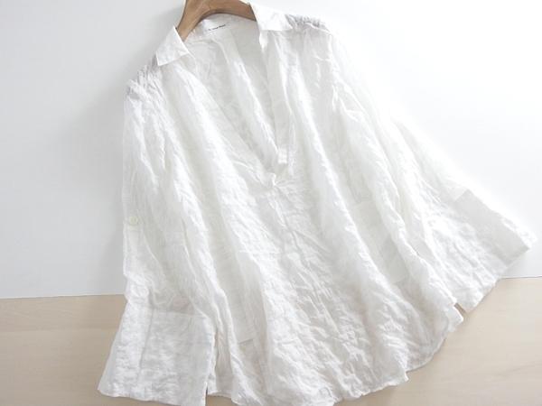 春夏 送料無料 *le.coeur blanc* ルクールブラン スキッパーブラウス 38 ♪_画像1