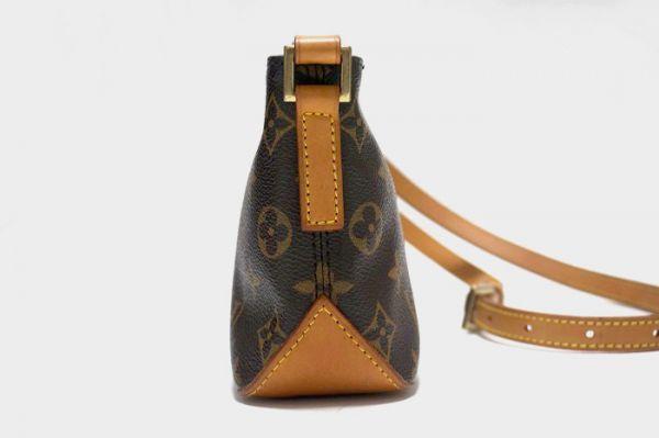 【極美品】ルイヴィトン モノグラム トロター 斜め掛け ショルダーバッグ 鞄 正規品 保護シール付 M51240 Louis Vuitton _画像5