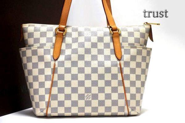 【極美品 袋付】ルイヴィトン ダミエ アズール ダミエアズール トータリーPM N51261 ショルダーバッグ  鞄 正規品 LV _画像4