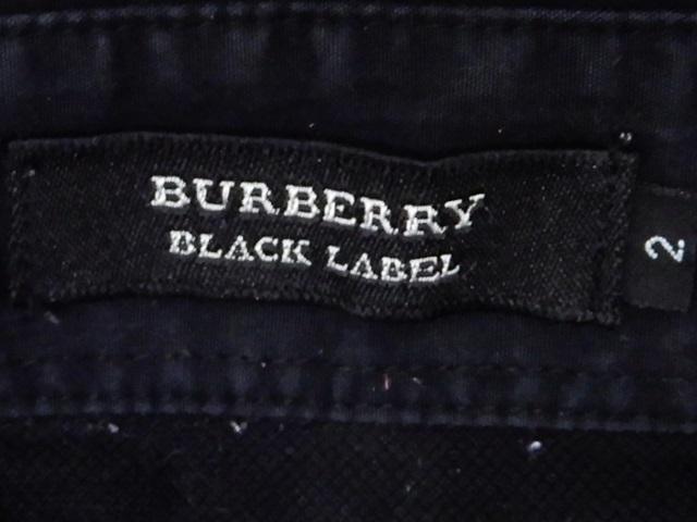 即決★BURBERRY BLACK LABEL★メンズM 廃盤 ポロシャツ バーバリーブラックレーベル 2 黒 ブラック 三陽商会正規 ナイト刺繍 半袖_画像6