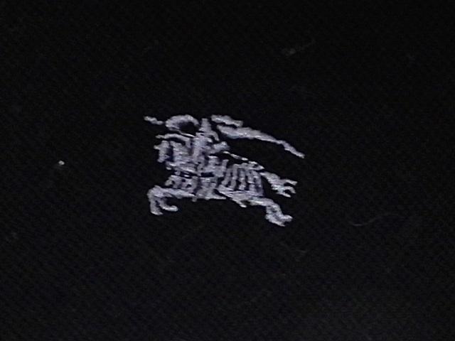 即決★BURBERRY BLACK LABEL★メンズM 廃盤 ポロシャツ バーバリーブラックレーベル 2 黒 ブラック 三陽商会正規 ナイト刺繍 半袖_画像4