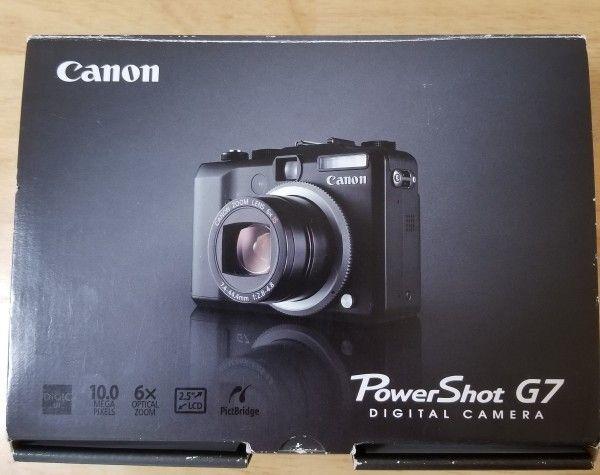 1円~新品 Canon デジタルカメラ PowerShot (パワーショット)G7 PSG7 ブラック 生産終了品
