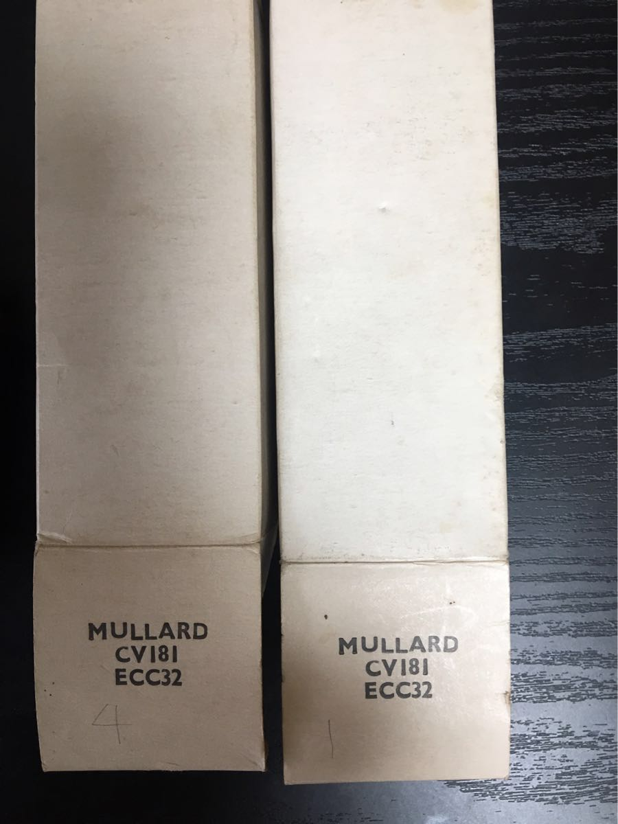 MULLARD CV181 ECC32 茶ベース 未使用 ペア 2個セット 真空管 高音質 箱付き ムラード 真空管アンプ_画像4