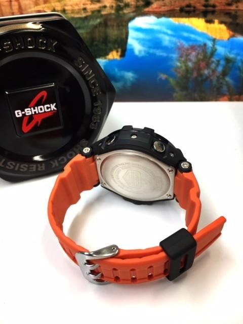 新品 CASIO カシオ G-SHOCK Gショック 正規品 腕時計 SKY COCKPIT スカイコックピット 多機能 アナデジ 時計 ブラック文字盤 オレンジ_画像8