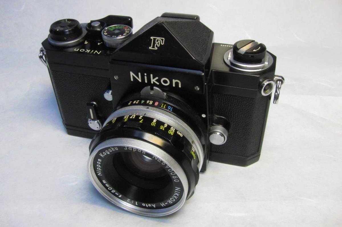 NEW Nikon F Brack ニコンF 後期型 ブラックボディ ニッコール 50mm 1:2付