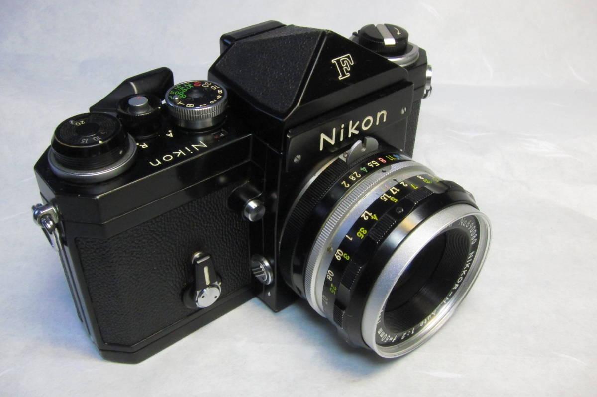 NEW Nikon F Brack ニコンF 後期型 ブラックボディ ニッコール 50mm 1:2付_画像2