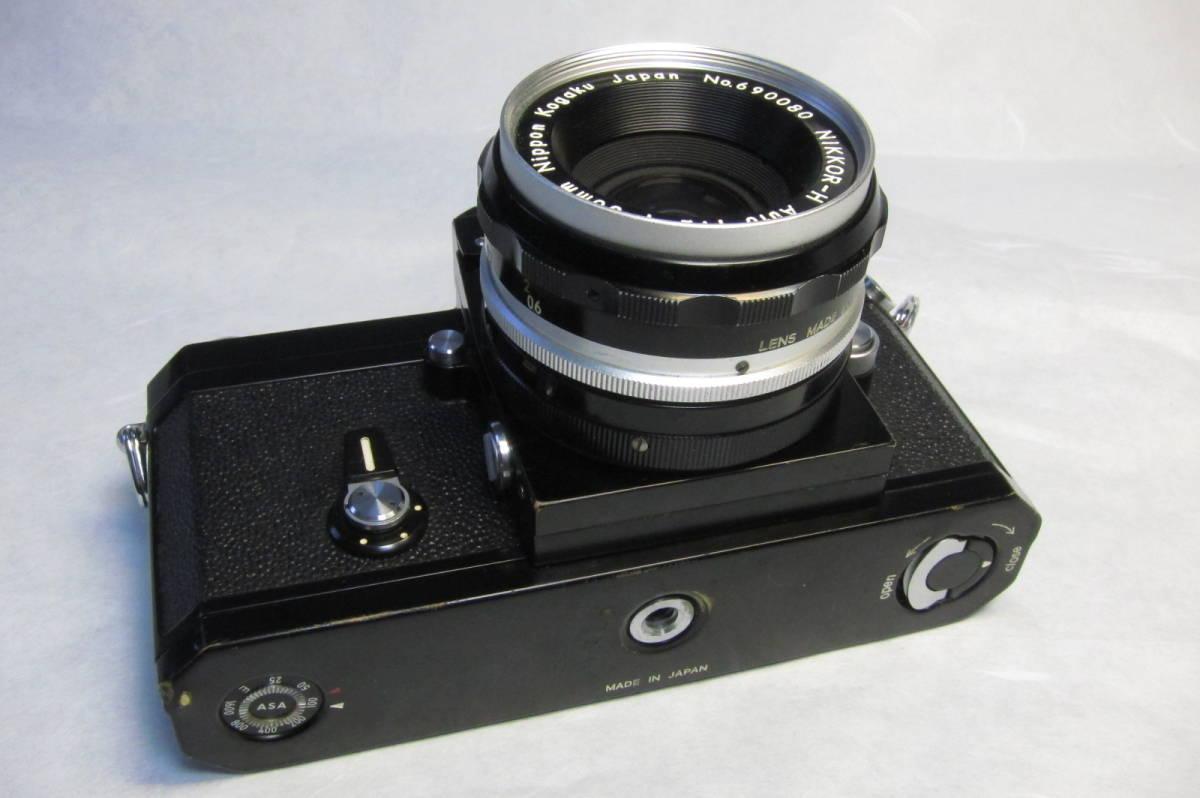 NEW Nikon F Brack ニコンF 後期型 ブラックボディ ニッコール 50mm 1:2付_画像4