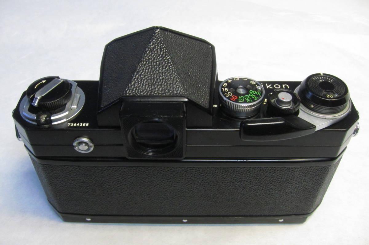 NEW Nikon F Brack ニコンF 後期型 ブラックボディ ニッコール 50mm 1:2付_画像5