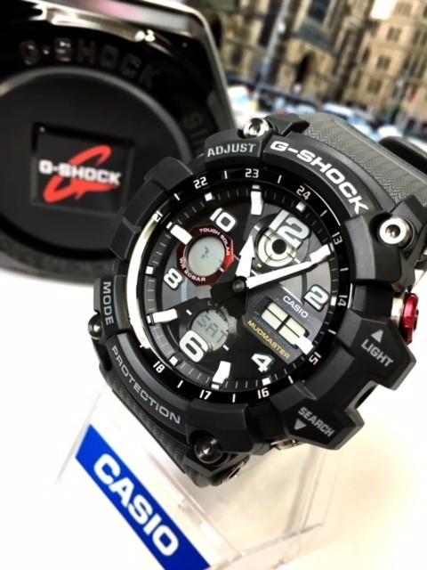 新品 カシオ CASIO Gショック G-SHOCK 正規品 MUDMASTER マッドマスター 腕時計 タフソーラー ソーラー 時計 ブラック レッド 樹脂バンド_画像2