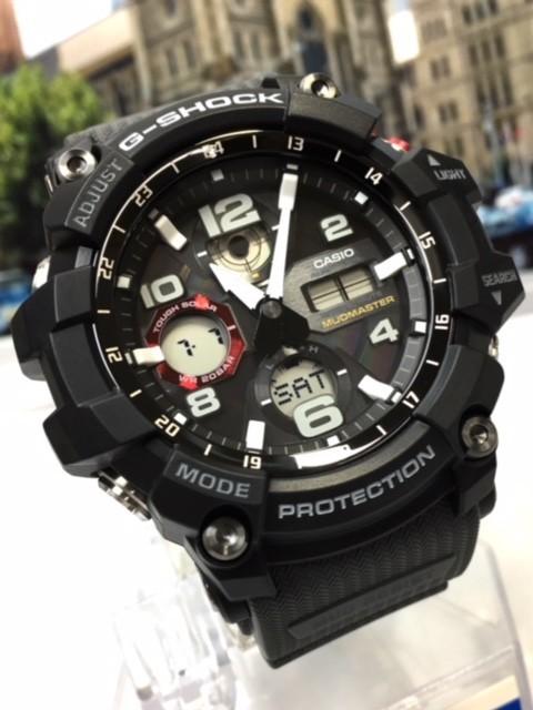 新品 カシオ CASIO Gショック G-SHOCK 正規品 MUDMASTER マッドマスター 腕時計 タフソーラー ソーラー 時計 ブラック レッド 樹脂バンド_画像4
