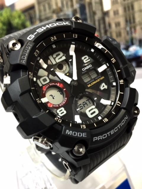 新品 カシオ CASIO Gショック G-SHOCK 正規品 MUDMASTER マッドマスター 腕時計 タフソーラー ソーラー 時計 ブラック レッド 樹脂バンド_画像6