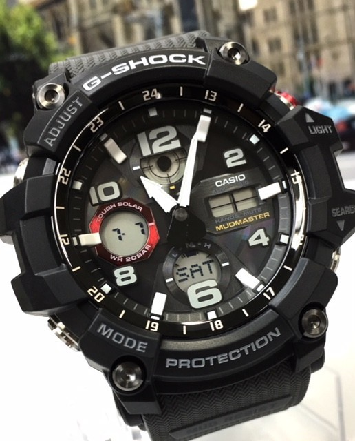 新品 カシオ CASIO Gショック G-SHOCK 正規品 MUDMASTER マッドマスター 腕時計 タフソーラー ソーラー 時計 ブラック レッド 樹脂バンド_画像3