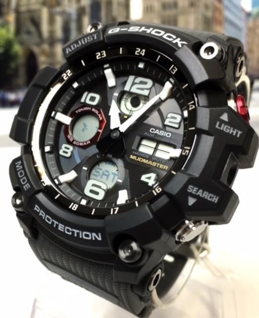 新品 カシオ CASIO Gショック G-SHOCK 正規品 MUDMASTER マッドマスター 腕時計 タフソーラー ソーラー 時計 ブラック レッド 樹脂バンド_画像5