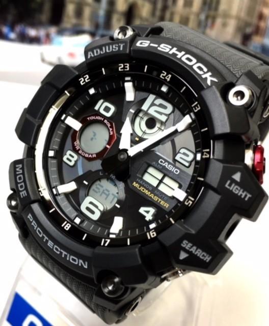 新品 カシオ CASIO Gショック G-SHOCK 正規品 MUDMASTER マッドマスター 腕時計 タフソーラー ソーラー 時計 ブラック レッド 樹脂バンド