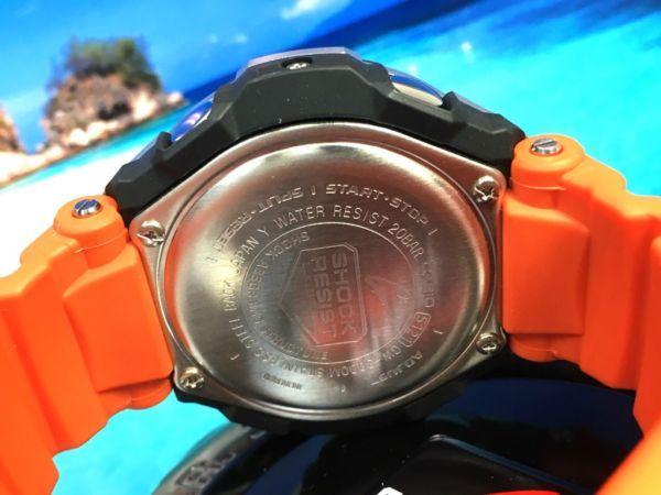 新品! CASIO カシオ G-SHOCK G-ショック 正規品 SKY COCKPIT 電波ソーラー 腕時計 マルチバンド 6 ブラック × オレンジ_画像4