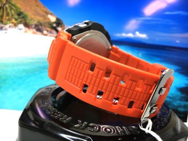 新品! CASIO カシオ G-SHOCK G-ショック 正規品 SKY COCKPIT 電波ソーラー 腕時計 マルチバンド 6 ブラック × オレンジ_画像3