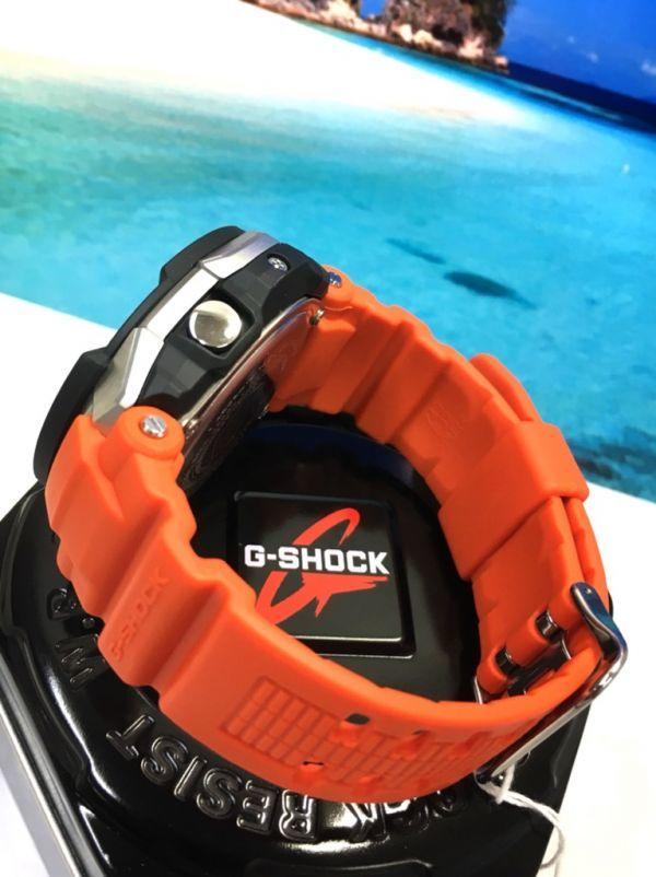 新品! CASIO カシオ G-SHOCK G-ショック 正規品 SKY COCKPIT 電波ソーラー 腕時計 マルチバンド 6 ブラック × オレンジ_画像7