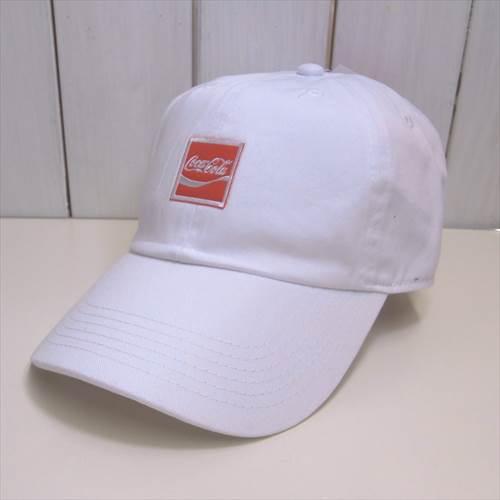 送料340円 COKE Cotton Cap 刺繍ロゴ コカ・コーラ 帽子 白_画像1