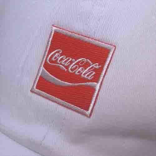送料340円 COKE Cotton Cap 刺繍ロゴ コカ・コーラ 帽子 白_画像2