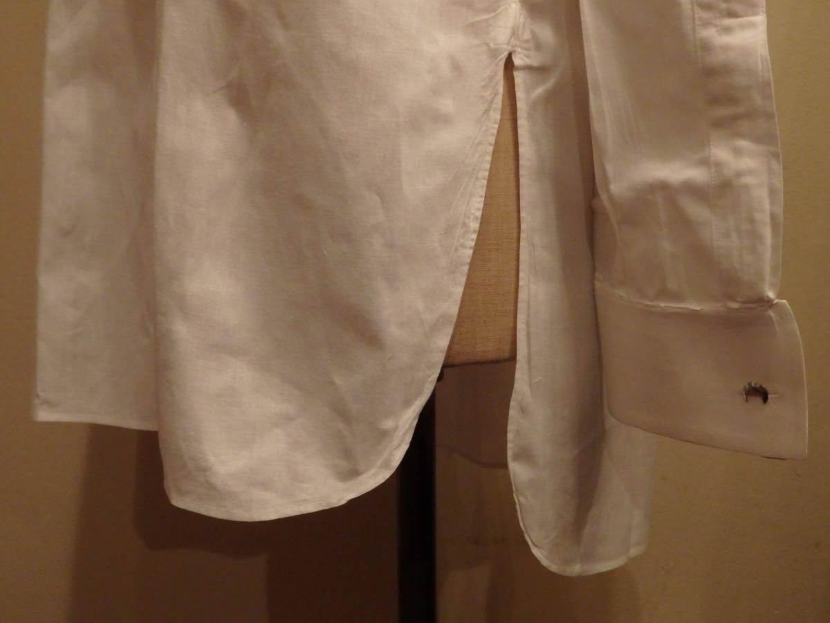 フランスアンティーク10's烏賊胸ドレスシャツ/20's30'sヴィンテージフォーマル燕尾服20世紀初頭1900'sΓMT_画像4