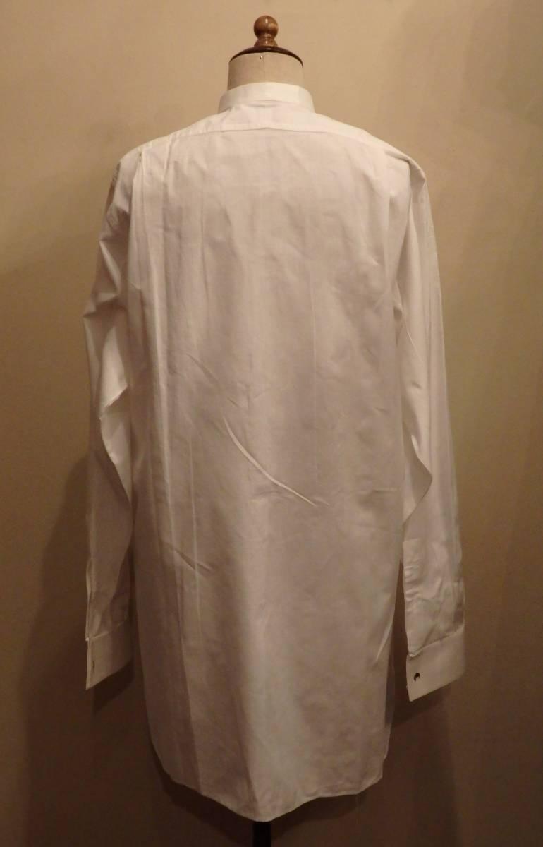 フランスアンティーク10's烏賊胸ドレスシャツ/20's30'sヴィンテージフォーマル燕尾服20世紀初頭1900'sΓMT_画像3