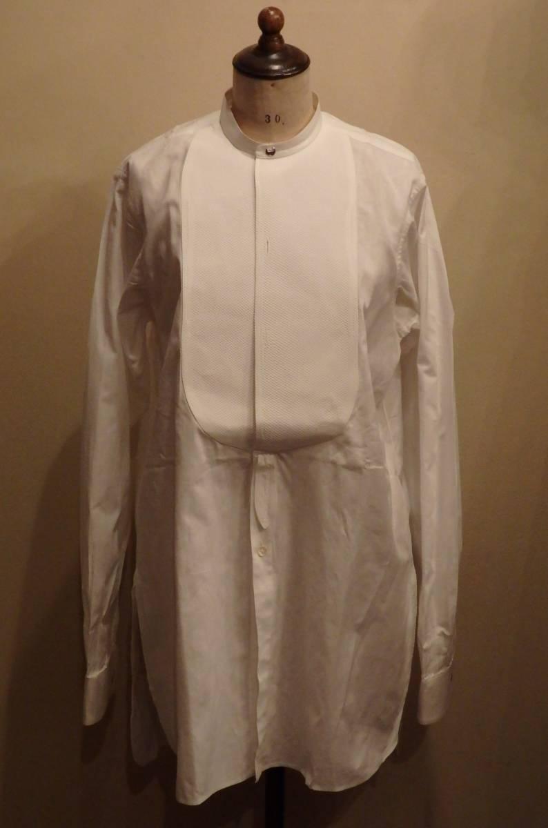 フランスアンティーク10's烏賊胸ドレスシャツ/20's30'sヴィンテージフォーマル燕尾服20世紀初頭1900'sΓMT_画像2