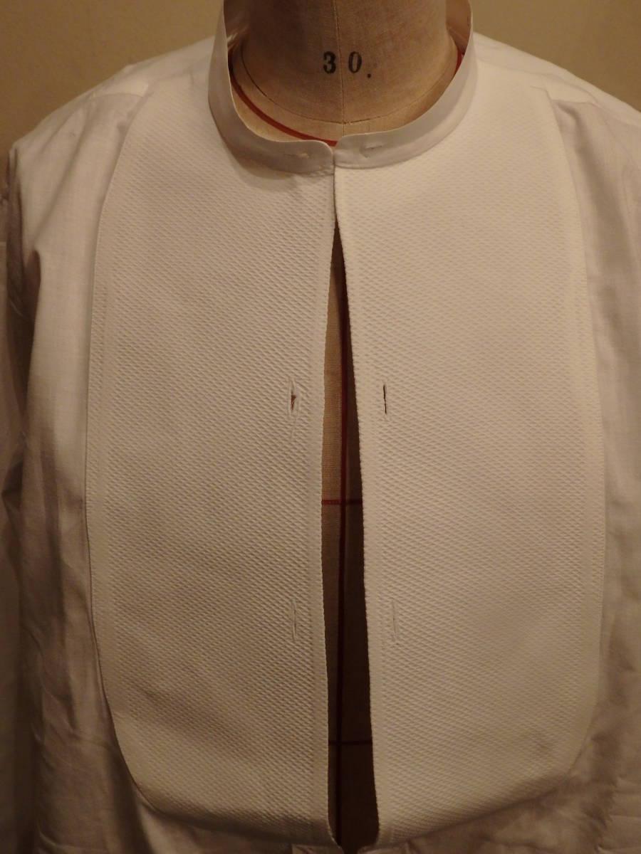 フランスアンティーク10's烏賊胸ドレスシャツ/20's30'sヴィンテージフォーマル燕尾服20世紀初頭1900'sΓMT_画像6