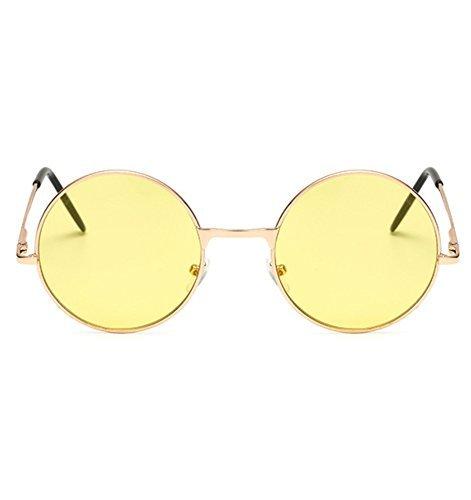 【メガネケース&クロス付】丸型 サングラス 丸サングラス ラウンド型 ファッション丸メガネ 軽量 UVカット クリアピンク 送料無料_画像3