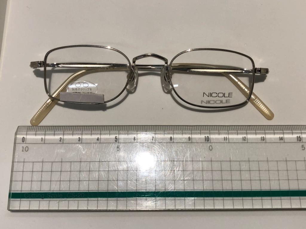 S3 即決 NICOLE ニコル メガネフレーム 2172 デットストック ビンテージ めがね 眼鏡 未使用 値下げ交渉 _画像2