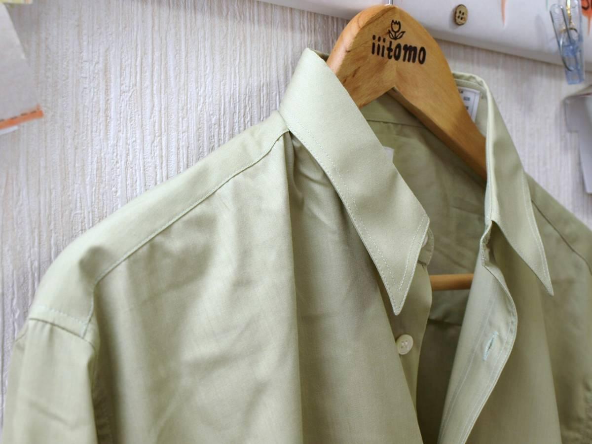 ♪服1949♪ 長袖 絹10%混紡のワイシャツ フラップ(ふた)付きポケット BOUTON 日本製 M-80 未使用品 (クリポス発送可) ~iiitomo~_画像4