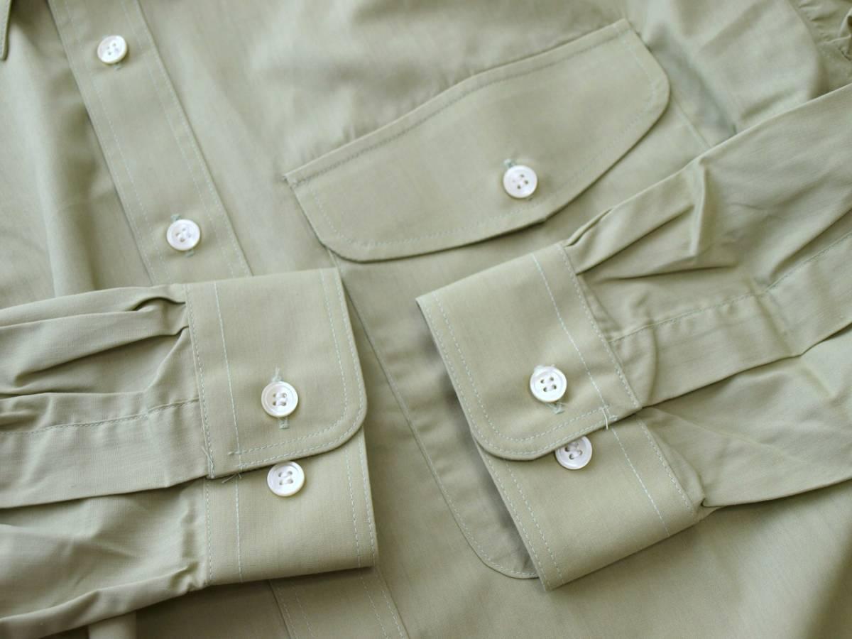 ♪服1949♪ 長袖 絹10%混紡のワイシャツ フラップ(ふた)付きポケット BOUTON 日本製 M-80 未使用品 (クリポス発送可) ~iiitomo~_画像8