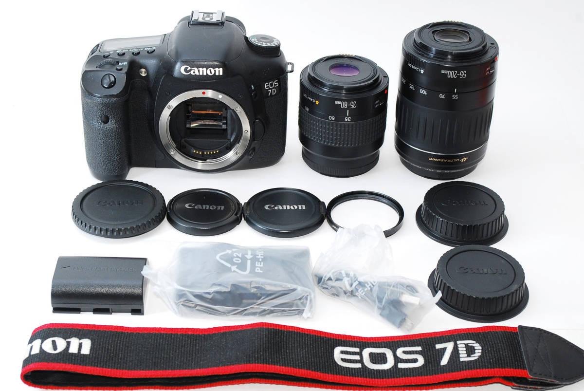 ★ Canon キヤノン EOS 7D 望遠ダブルズームセット 39800円