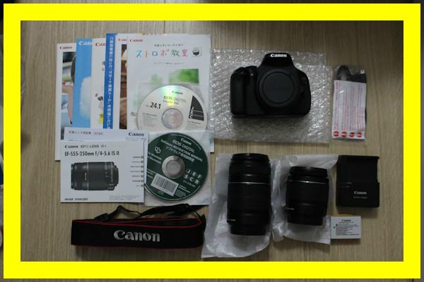 Canon EOS Kiss X5 ダブルズームキット 良品 デジタル一眼レフカメラ レンズ イーオス キス 1800万画素 キャノン EF-S18-55mm EF-S55-250mm