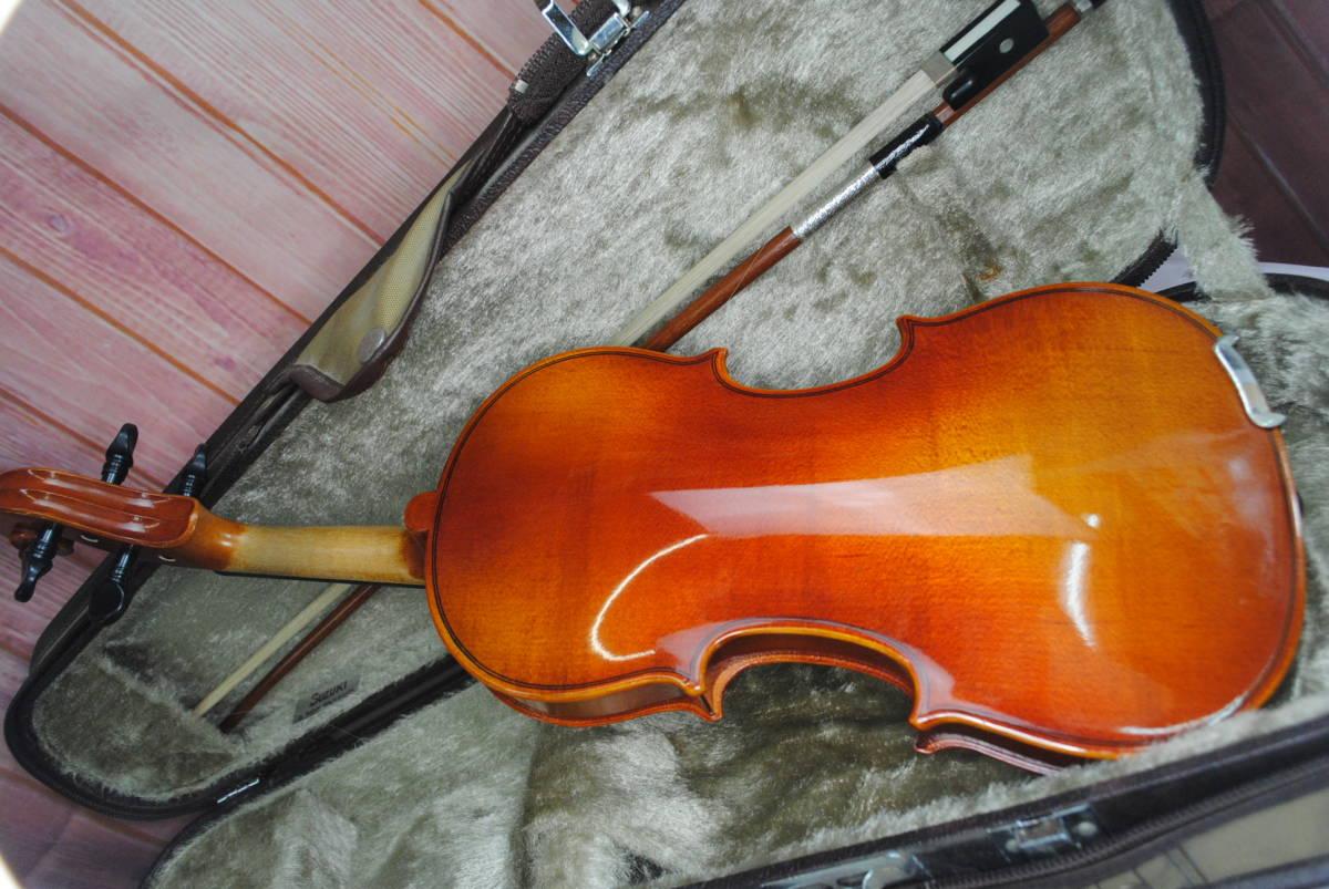 F549.鈴木◇バイオリン◇弦楽器◇SUZUKI◇No.200◇1/8サイズ◇ハードケース入り◇弓付き◇音楽◇コレクション_画像4
