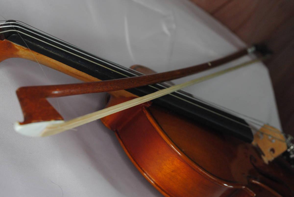 F549.鈴木◇バイオリン◇弦楽器◇SUZUKI◇No.200◇1/8サイズ◇ハードケース入り◇弓付き◇音楽◇コレクション_画像10