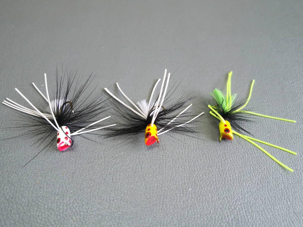 ホッパー 毛バリ 3種セット LEICHI_画像1