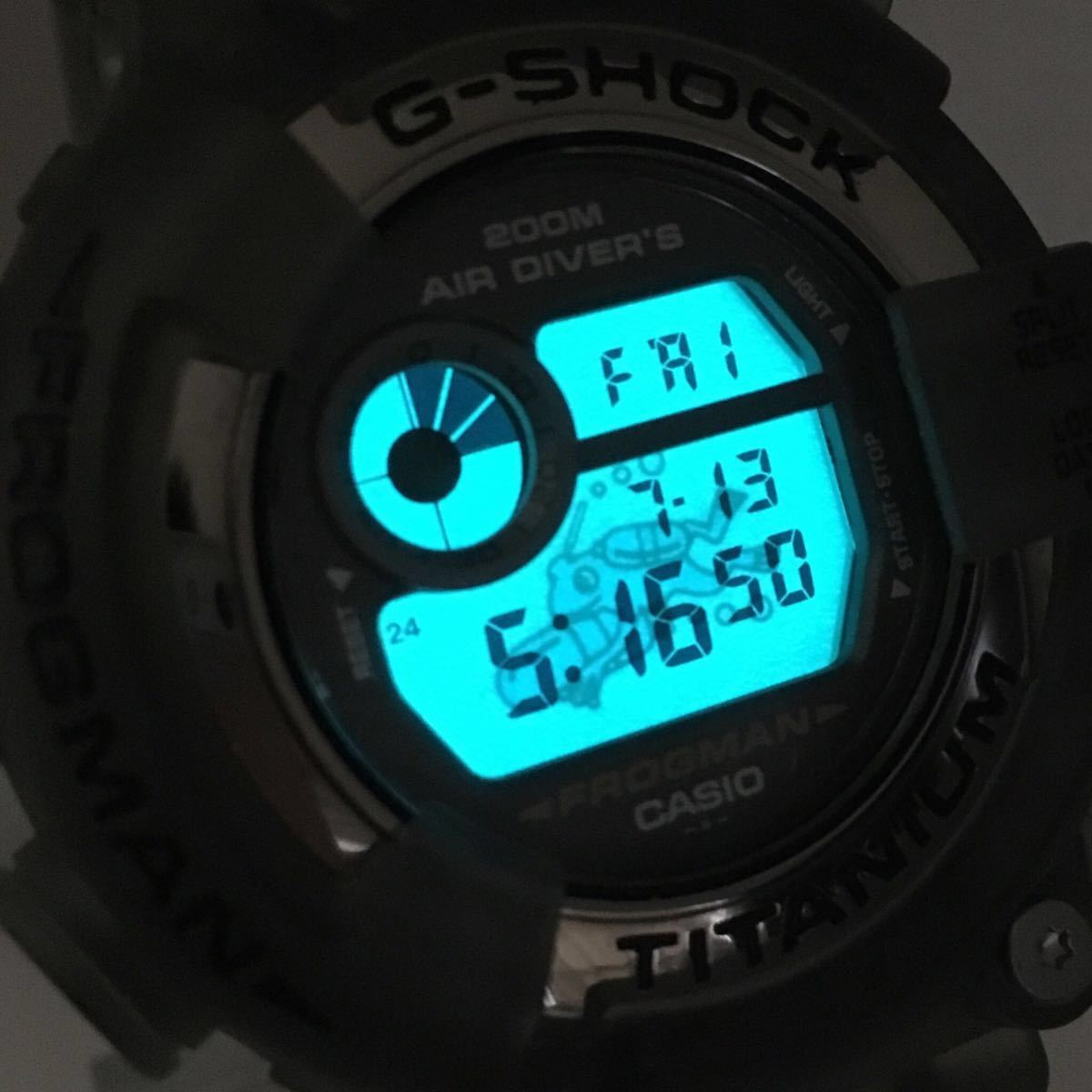 CASIO G-SHOCK DW-8200MS-8T 未使用 美品 FROGMAN フロッグマン MEN IN SMOKE メン・イン・スモーク 潜水蛙 箱タグ付き Gショック_画像9