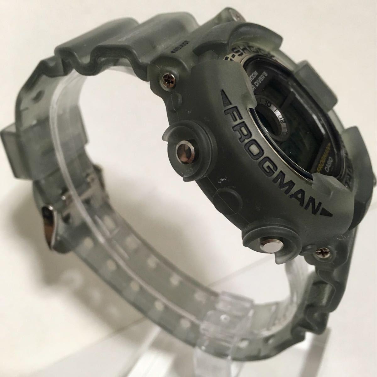 CASIO G-SHOCK DW-8200MS-8T 未使用 美品 FROGMAN フロッグマン MEN IN SMOKE メン・イン・スモーク 潜水蛙 箱タグ付き Gショック_画像6