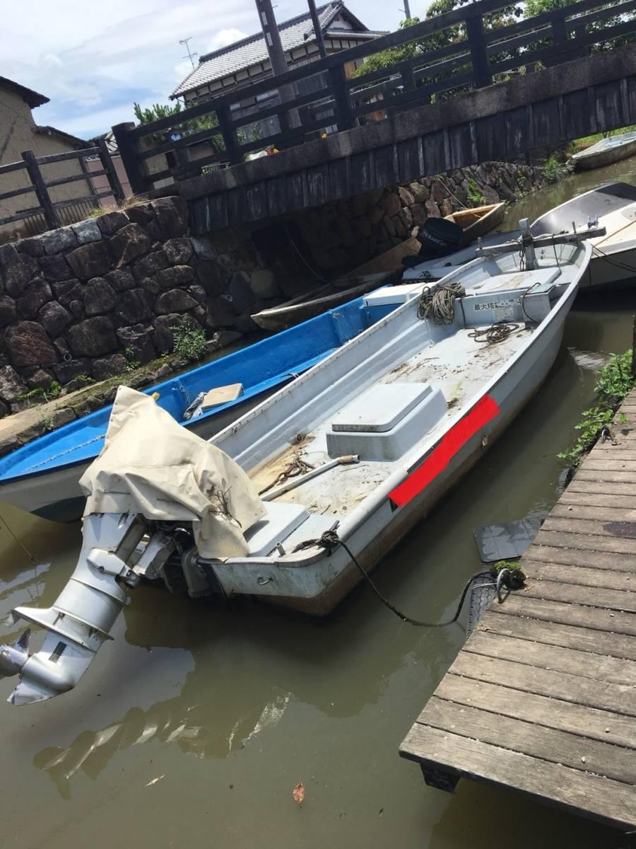 ヤマハ U-16F 和船 フィッシング ボート エンジン 船外機 ヤンマー ホンダ 25馬力 4サイクル 琵琶湖発_画像2