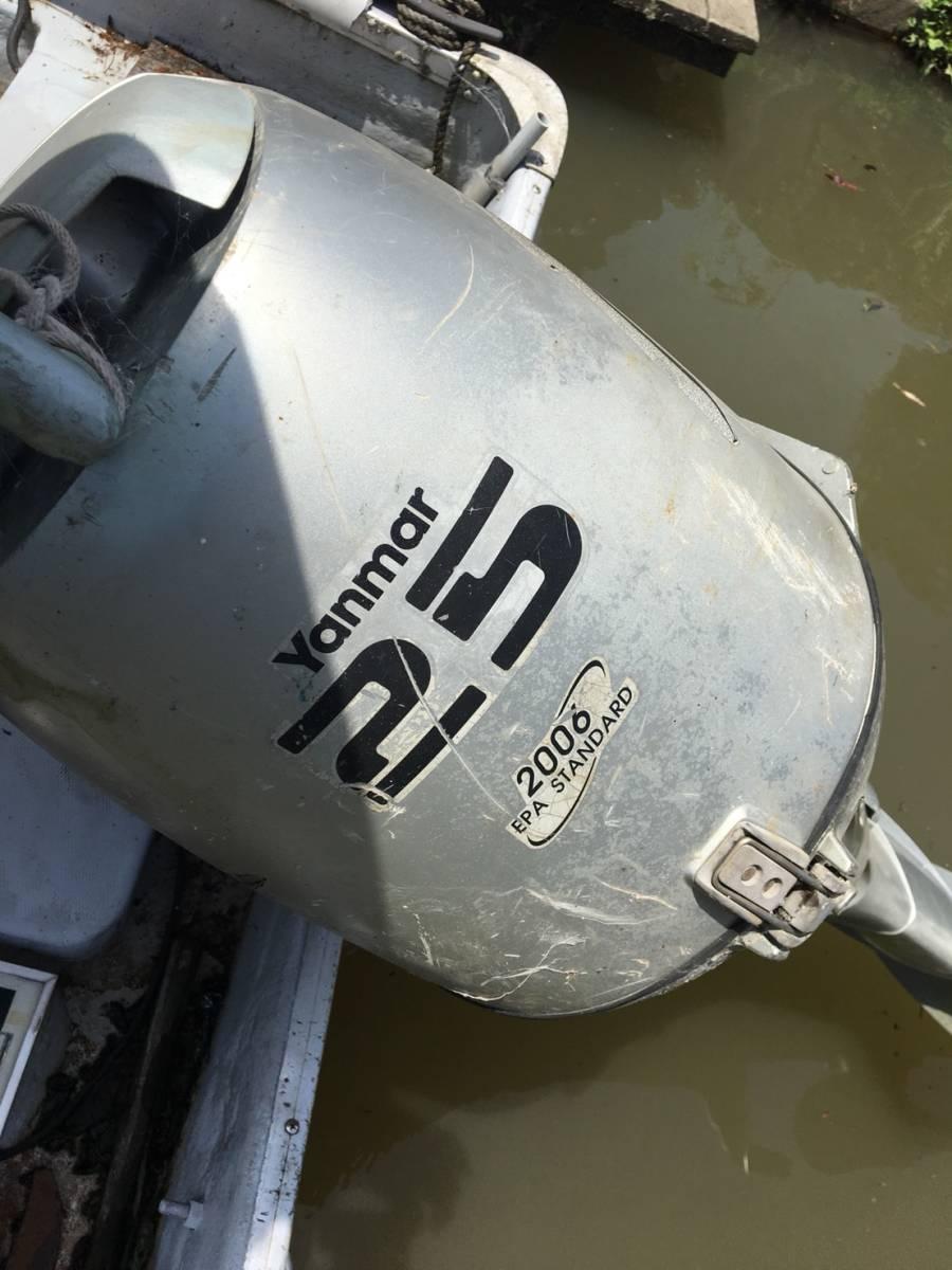 ヤマハ U-16F 和船 フィッシング ボート エンジン 船外機 ヤンマー ホンダ 25馬力 4サイクル 琵琶湖発_画像4
