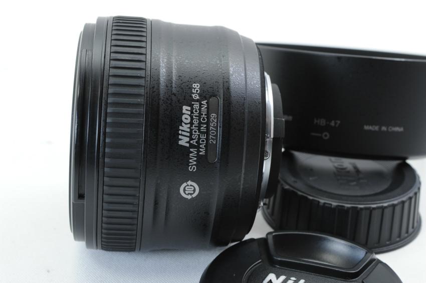 【ecoま】ニコン NIKON AF-S 50mm F1.8 G フード付 単焦点 オートフォーカスレンズ_画像5
