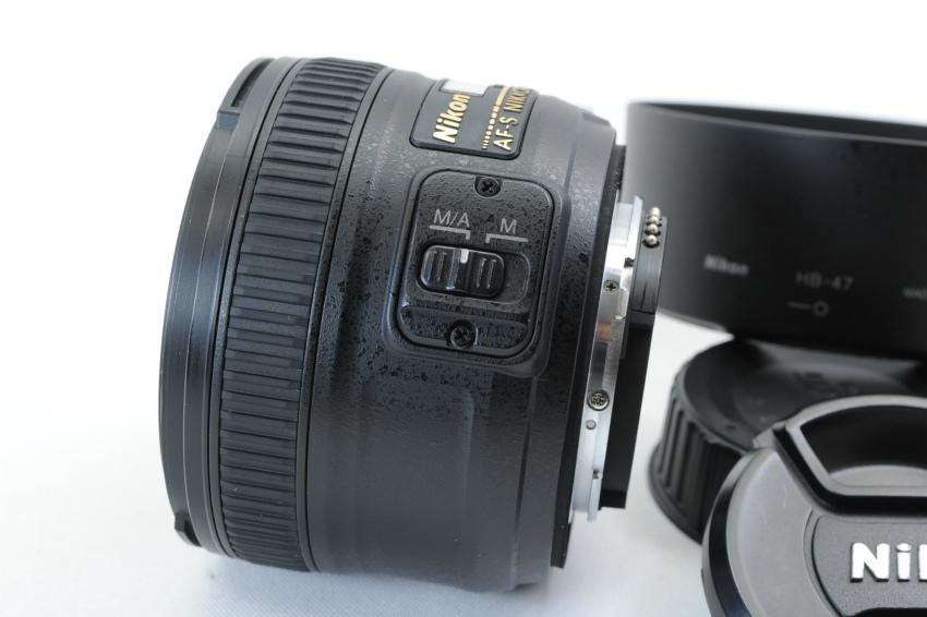 【ecoま】ニコン NIKON AF-S 50mm F1.8 G フード付 単焦点 オートフォーカスレンズ_画像3